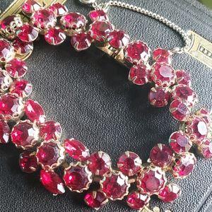 Vintage Weiss Red Rhinestone Bracelet